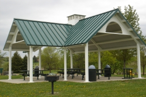 Gable End Metal Roof Shade Shelter