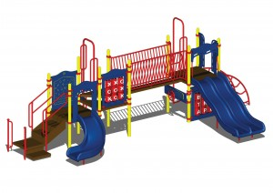 Custom Playcraft Play Structure Installed at Fremont Elementary School in Santa Ana, CA.