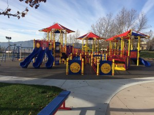 New 5-8 Playground Under Progress at Margarita Park, Temecula, CA.