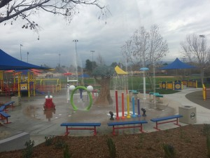 Spray Test at Splash Pad at Margarita Park