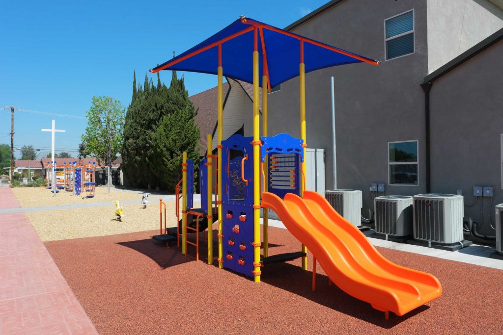 New Commercial Playground Equipment Installed at Garden Grove Church