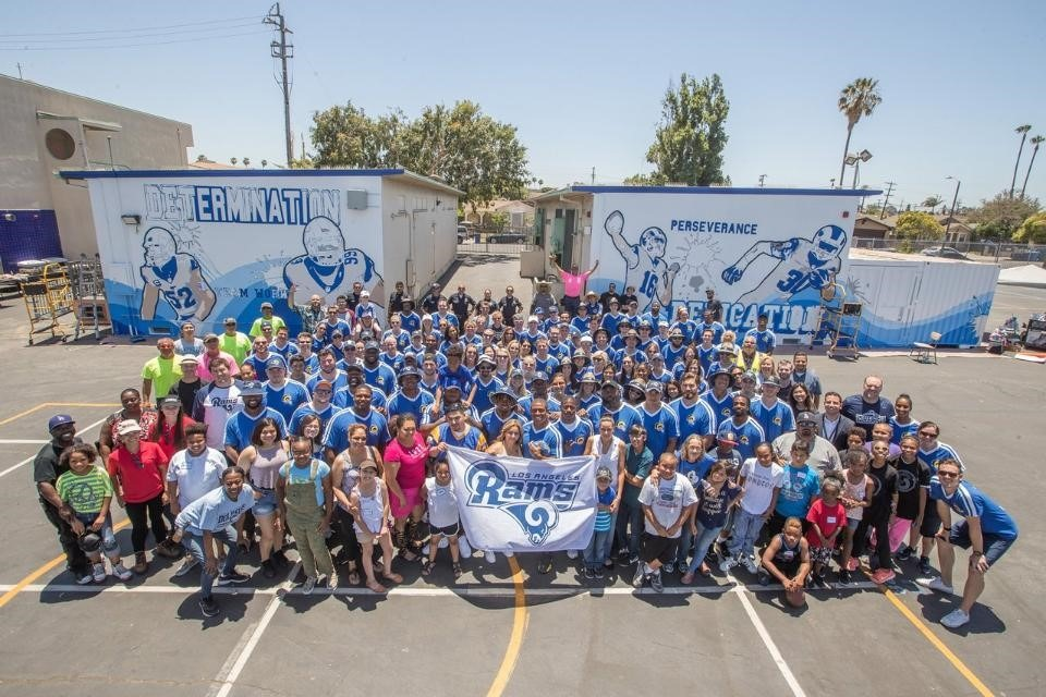LA Rams Complete 9th Annual School Playground Build